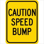 Caution Speed Bump G-52