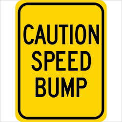 Caution Speed Bump G-52