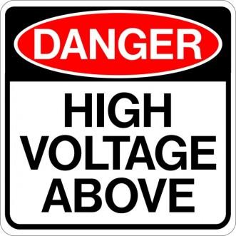 Danger High Voltage Above