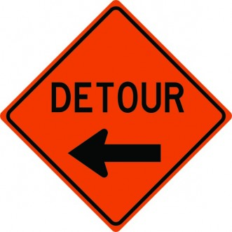 Detour Arrow Left