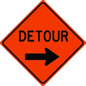 Detour Arrow Right