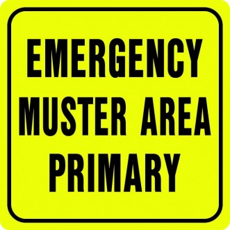 Emergency Muster Area Primary Sign