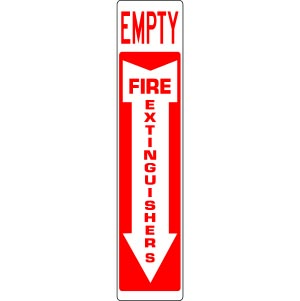 extinguisher empty