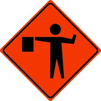 Flagger Sign