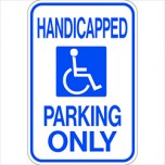 Handicapped Parking Only W Symbol