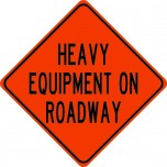 Heavy Equipment on Roadway