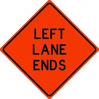 Left Lane Ends