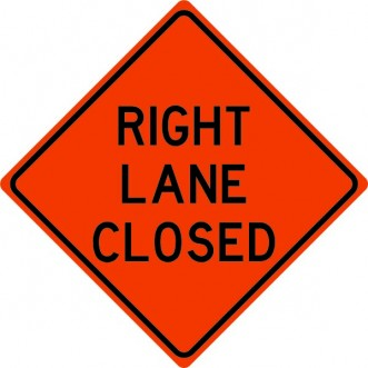 Right Lane Closed