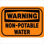 Warning Non-Potable Water