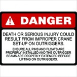 Crane Safety Labels Outriggers