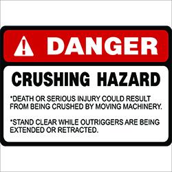Crane Safety LabelsCrushing Hazard