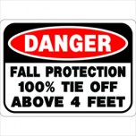 fall protection label