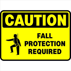 Fall Protection Required CAUTION SKUSSFP002